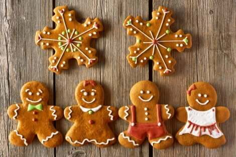 Biscoitos de gengibre para o Natal