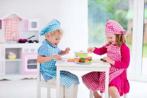 Cozinhas de brinquedo e o seu apelo durante a infância