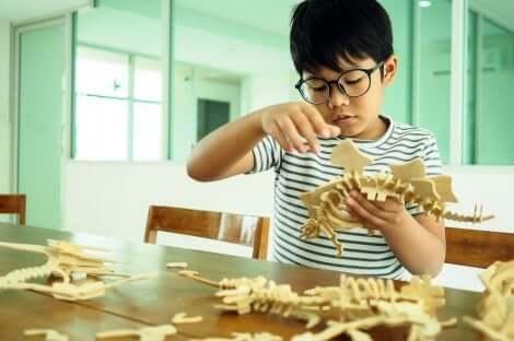 A importância das diferenças individuais para a educação: menino aprendendo com as mãos