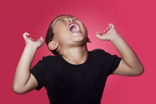 A importância de validar as emoções das crianças: menino gritando