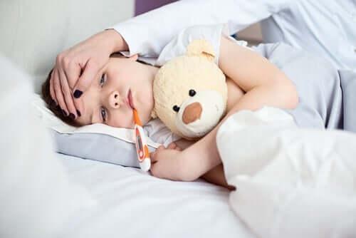 As crianças crescem quando estão com febre