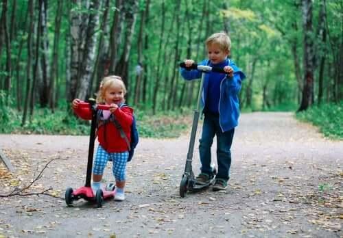 Evolução e tipos de patinete para crianças