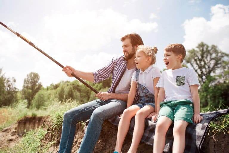 Pescar com as crianças!