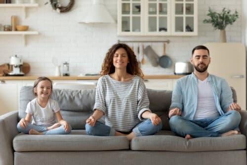 mindfulness e meditação para famílias