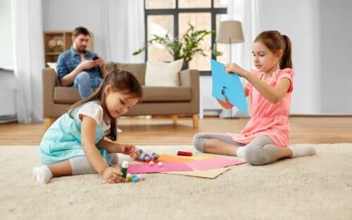 Artesanato infantil com pompons