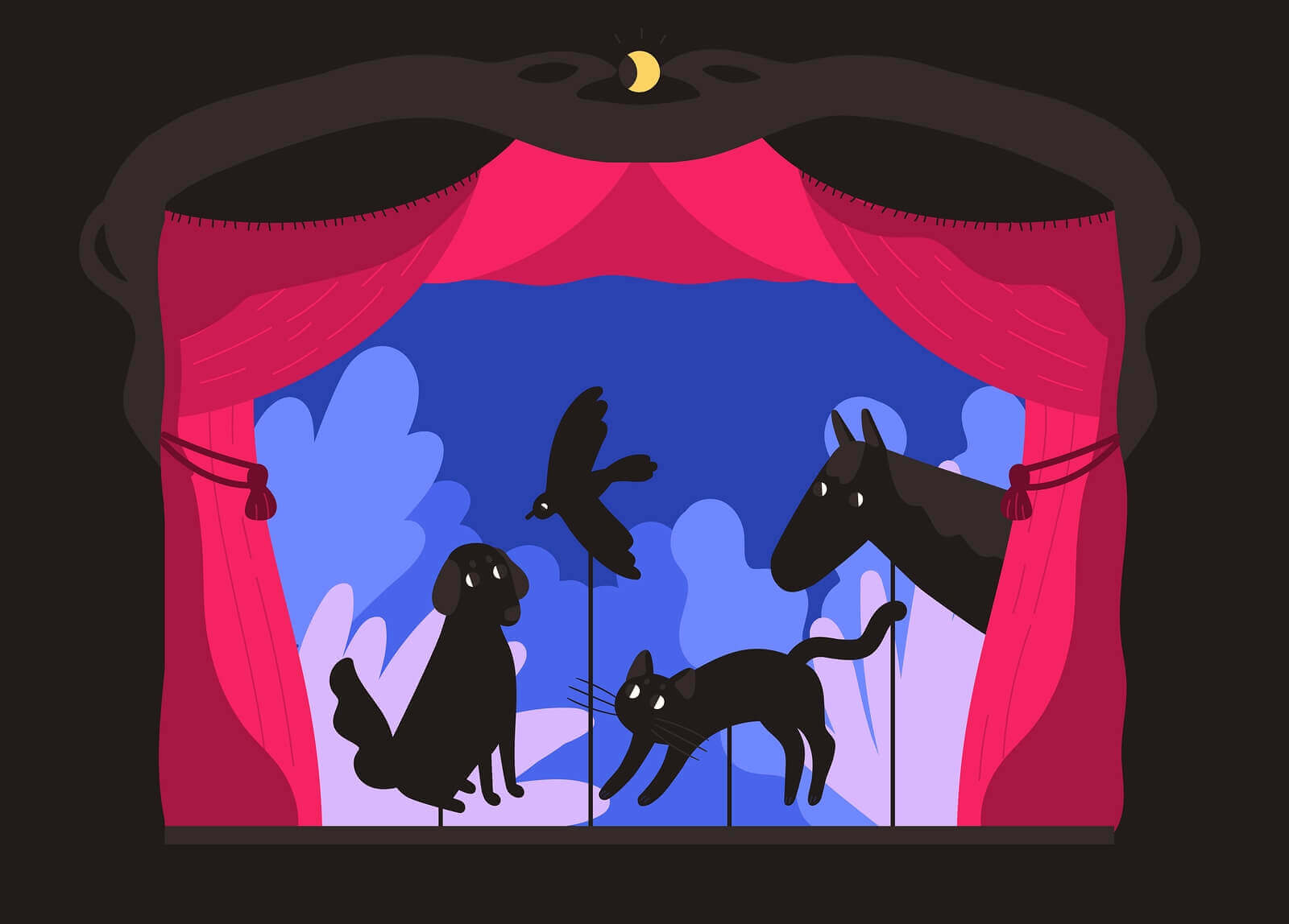 fazer um teatro de sombras em casa