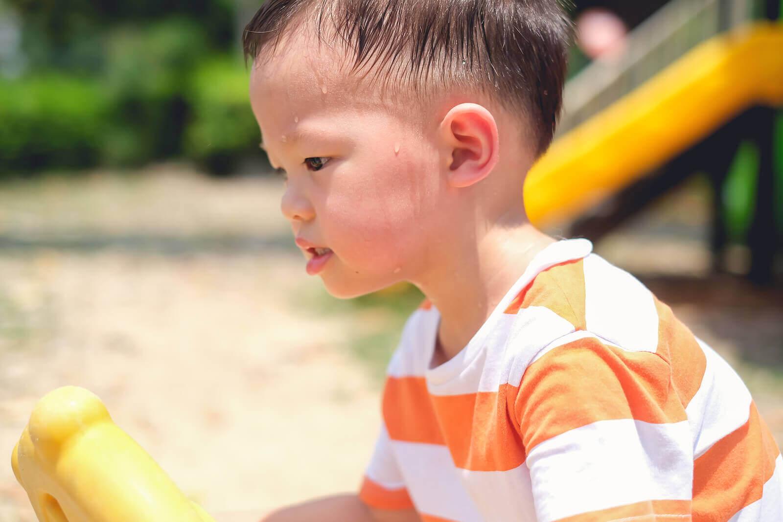 Meu filho transpira muito