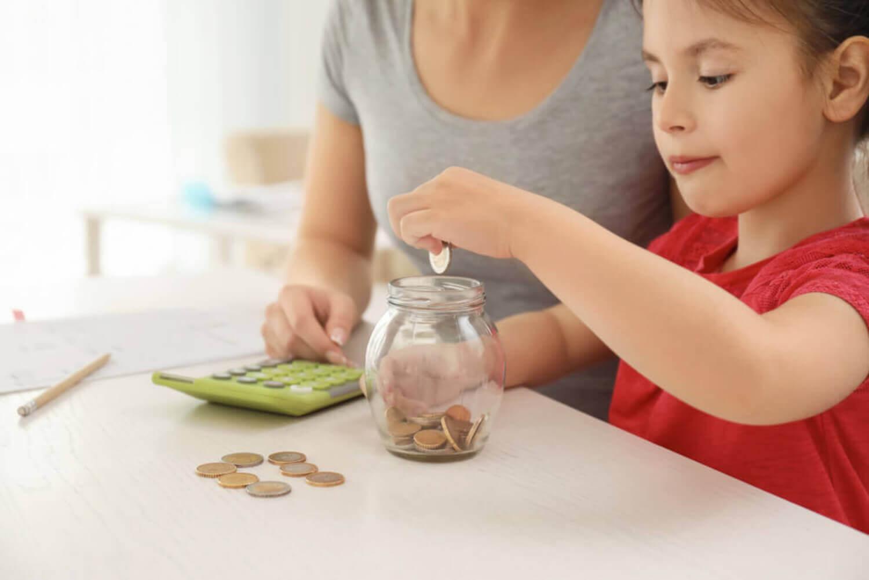 ensinar as crianças a economizar
