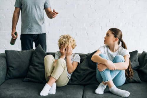 Filhos de pais alcoólatras
