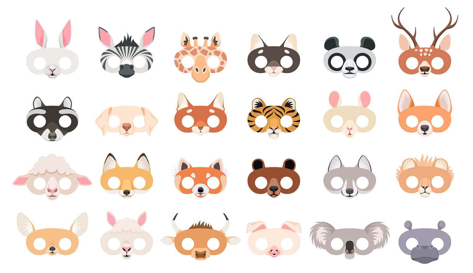 Máscaras: artesanatos de animais