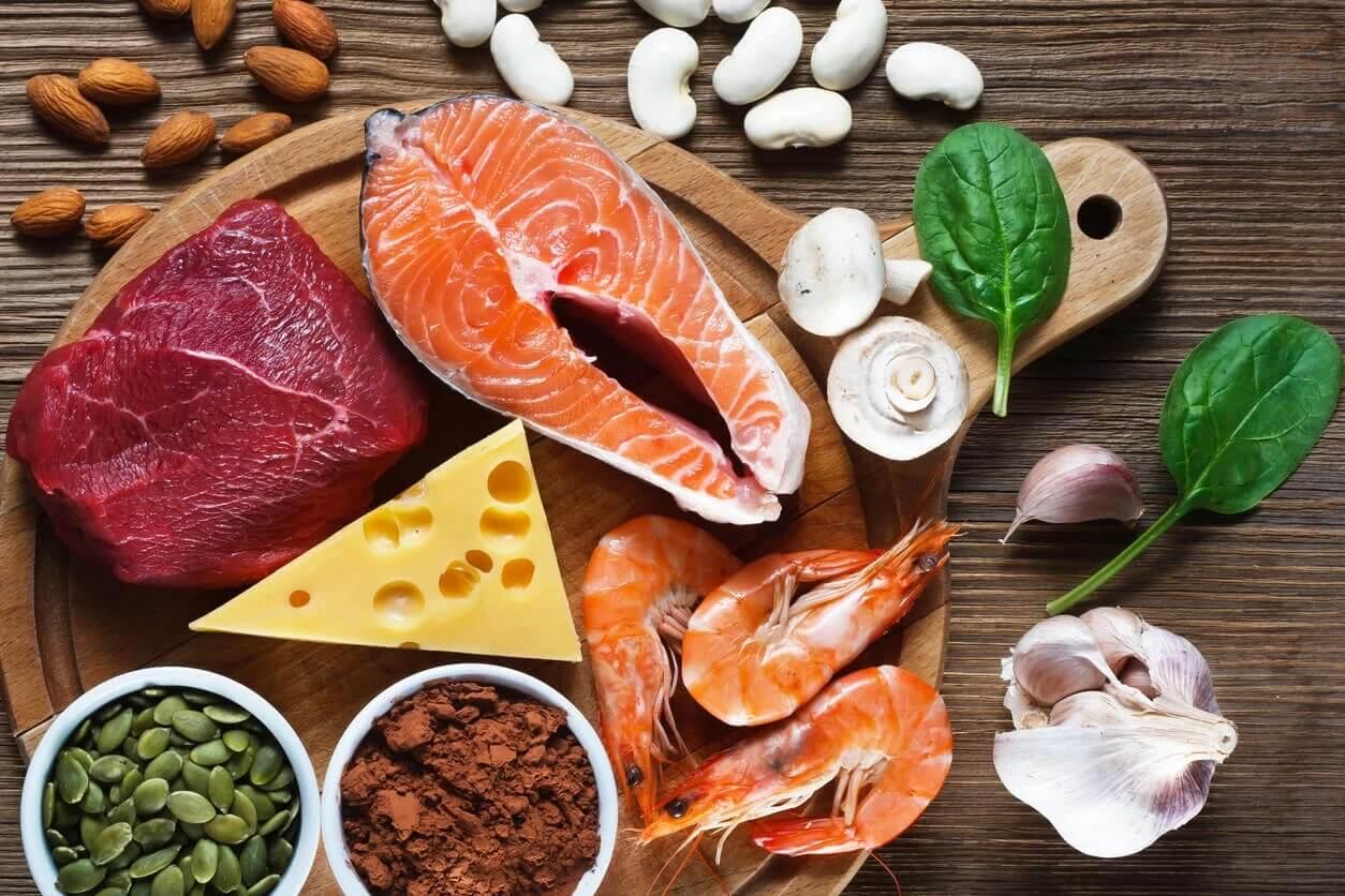 Alimentos ricos em zinco para a dieta infantil.