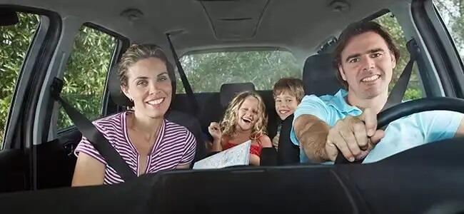 Viagem de carro em família.