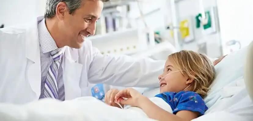 A hospitalização infantil.