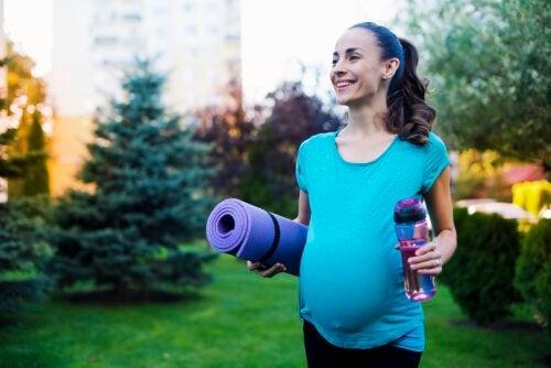 O exercício durante a gravidez também melhora a saúde do bebê